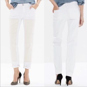 NWT Madewell White and Ivory Slim Boy Jeans